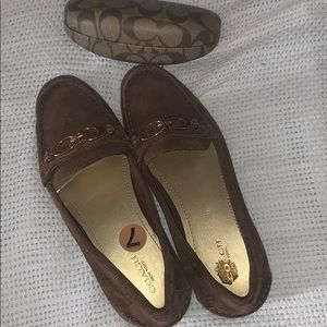 Coach loafers & glasses case